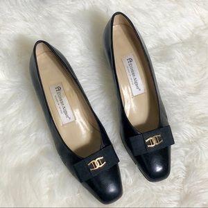 Etienne Aigner Fiesta Black Leather Heels